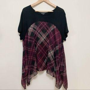 NWT George Black & Purple Patterned T-Shirt